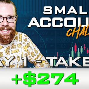 Small Account Challenge Day 1 Take 2 +$274 | Recap by Ross Cameron