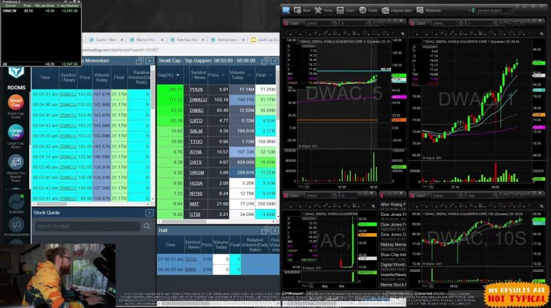 $DWAC Day 2?! Live Day Trading Morning Show w/ Ross Cameron